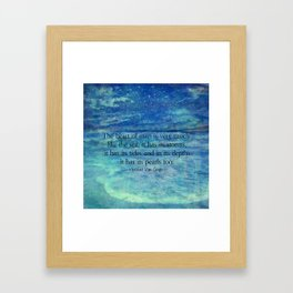 Inspirational ocean sea quote Framed Art Print