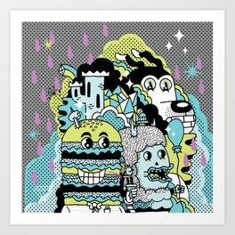 Magic Friends Art Print