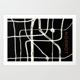 London abstract art Art Print