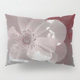 Red Wall Flower Pillow Sham