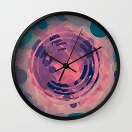 Blush Pink and Teal Circle Abstract Wall Clock
