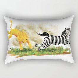 Lion & Zebra Rectangular Pillow