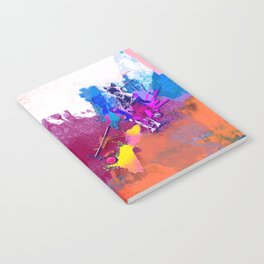 polo abstract red blue Notebook