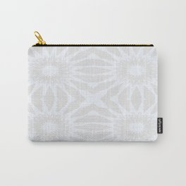 Gray pinwheel Flower Carry-All Pouch