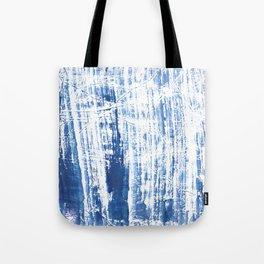Steel blue streaked watercolor pattern Tote Bag