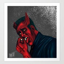 I am the devil Art Print