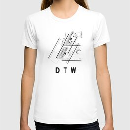 DTW Airport Diagram T-shirt