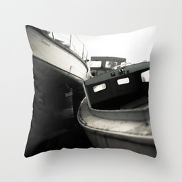 Boat Cemetery Throw Pillow