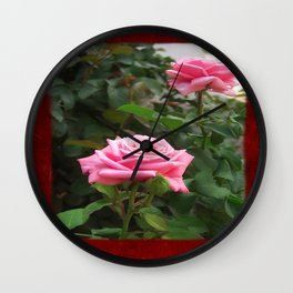 Pink Roses in Anzures 5  Blank P5F0 Wall Clock