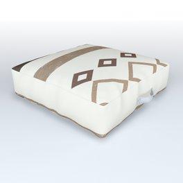 Western Pattern, Out West, Patterns, Brown, Tan, Beige, Shapes, Geometric Western Art Outdoor Floor Cushion