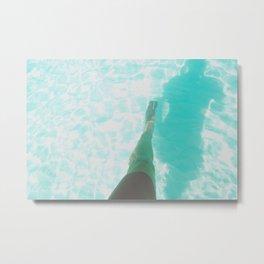 Step into Ocean Metal Print