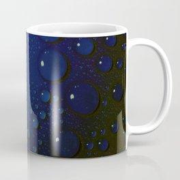 Midnight Blue to Stars in Droplets Polka Dots Coffee Mug