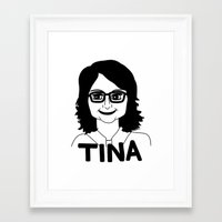 tina fey Framed Art Prints featuring Tina Fey by Flash Goat Industries
