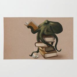 Well-Read Octopus Rug