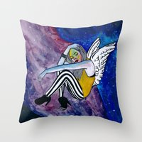 astronomy Throw Pillows featuring ASTRONOMY OF PEOPLE by Ish Afeef