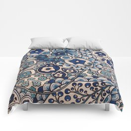 Blue Paisley Comforters
