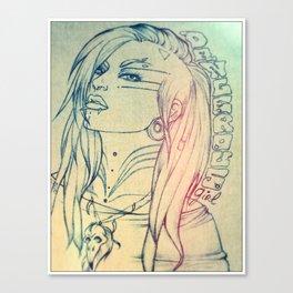 Dangerous girl Canvas Print