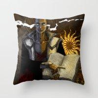 """dragon age Throw Pillows featuring Dragon Age - Truth by Barbara """"Yuhime"""" Wyrowińska"""