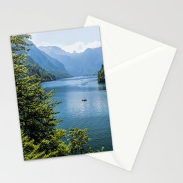 Germany, Malerblick, Koenigssee Lake III- Mountain Forest Europe Stationery Cards