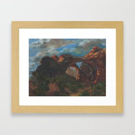 Afternoon through the Double Arch Framed Art Print