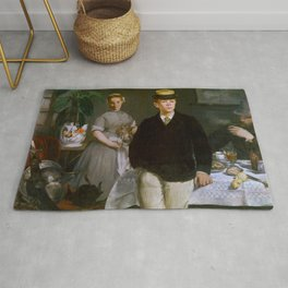 """Édouard Manet """"Luncheon in the Studio (or The Luncheon)"""" Rug"""