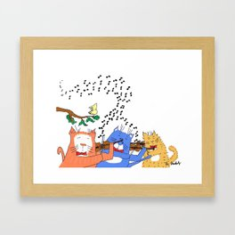 Cats with Violins Framed Art Print