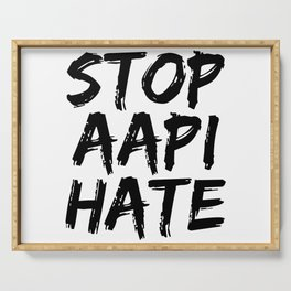 Stop AAPI Hate Serving Tray