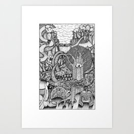 dreaming forest Art Print