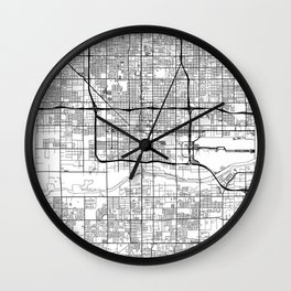 Phoenix Map White Wall Clock