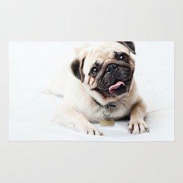 pug portrait Rug