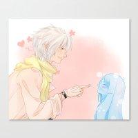 kawaii Canvas Prints featuring Kawaii by Mattie