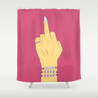 patriarchy Shower Curtains featuring Dear Patriarchy by Charisse