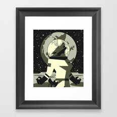 Werewolf in the Moon Framed Art Print