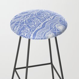 Periwinkle Blanket Bar Stool