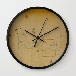 Peace Grafitti Wall Clock