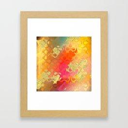 Decorative Gold Sparkling Bright Abstract Design Framed Art Print