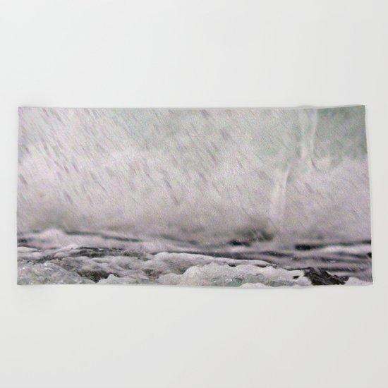 Under the Crashing Wave Beach Towel
