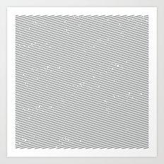 striped shirt Art Print