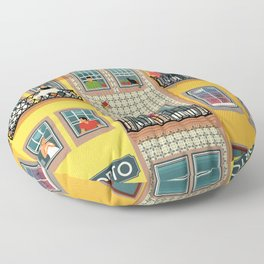 Porto Houses - Portugal Floor Pillow