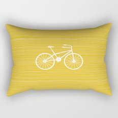 Yellow Bike by Friztin Rectangular Pillow