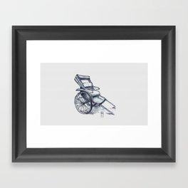 rickshaw japan Framed Art Print