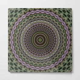 Easternet Pattern 6 (Mandalic) Metal Print