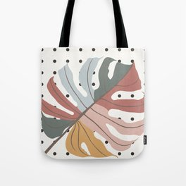 Colorful Monstera Leaf Tote Bag