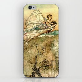 """Bear the Changeling to My Bower"" Art by Arthur Rackham iPhone Skin"
