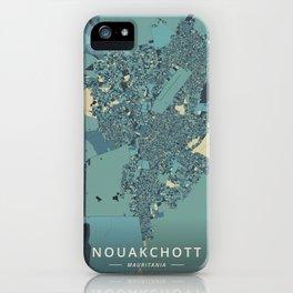 Nouakchott, Mauritania - Cream Blue iPhone Case