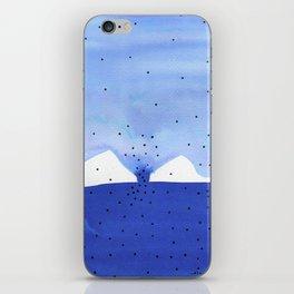 Bright blue series #4 iPhone Skin