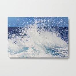 Ocean splash - Wave - Nautical photography Metal Print