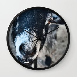 goaty greeting Wall Clock