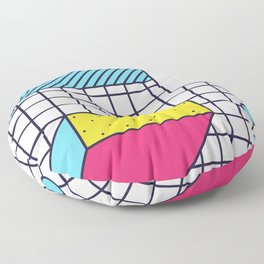 Festive Background in Neo Memphis Style Colorful Decorative pattern Floor Pillow