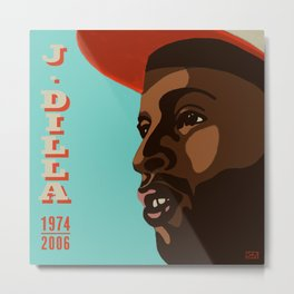 J. Dilla: a portrait of a genius Metal Print